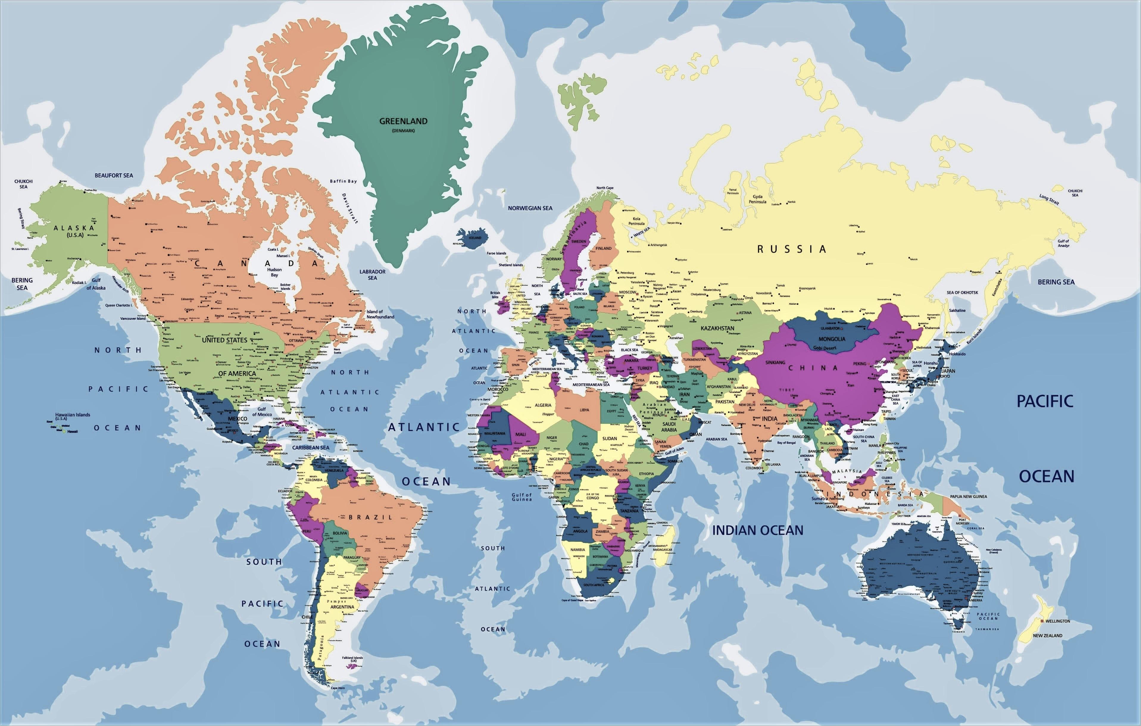 Mapamundi Politico Mapa Del Mundo Politico Planisferio