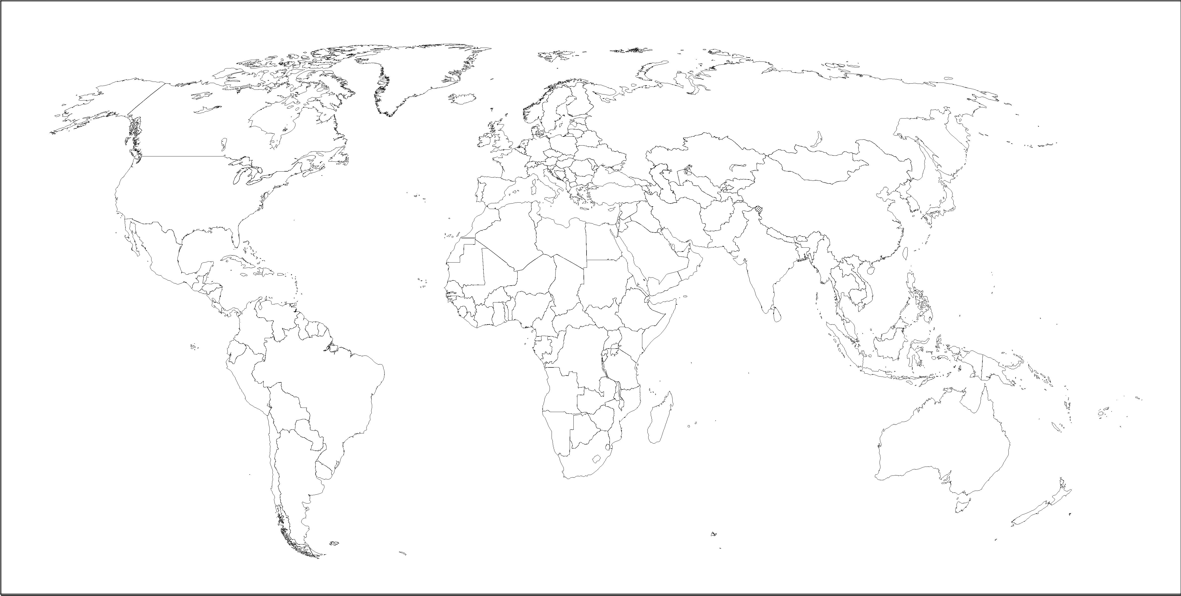 mapamundi politico mudo